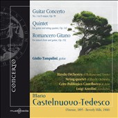 Castelnuovo-Tedesco: Guitar Concerto No. 1; Quintet; Romancero Gitano / Giulio Tampalini