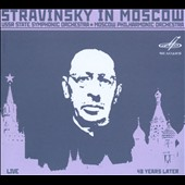 Stravinsky in Moscow - Fireworks; Petrushka; The Volga Barge Haulers; Ode; Orpheus / Stravinsky, conductor