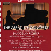 Sviatoslav Richter: The Great Live Concerts - Beethoven & Brahms / Sviatoslav Richter, piano; Boston SO; Munch