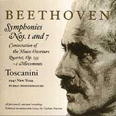 Beethoven: Symphonies no 1 & 7, etc / Toscanini