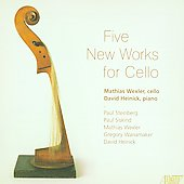 Five New Works for Cello - Steinberg, Siskind, Wexler, Wanamaker, Heinick / Mathias Wexler