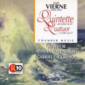 Vierne: Quintet avec piano, Op. 42; Quatuor &#224; cordes, Op. 12