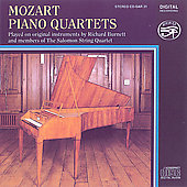 Mozart: Piano Quartets / Richard Burnett, Salomon Quartet