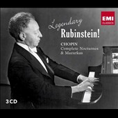 Legendary Rubinstein! Chopin: Nocturnes 1-19; Mazurkas 1-51 (3 CDs) / Arthur Rubinstein, piano
