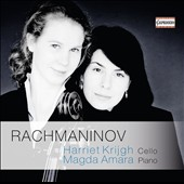 Rachmaninov: Cello Sonata Op. 19; Elégi, Op. 3/1; Vocalise, Op. 34/14; Romance, Op. 4/3 'In the silence of the secret night' / Harriet Krijgh, cello; Magda Amara, piano
