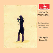 Niccolò Paganini (1782-1840): Three Duets for Violin and Bassoon / The Apollo Ensemble