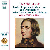 Liszt: Complete Piano Music, Vol 27 / William Wolfram