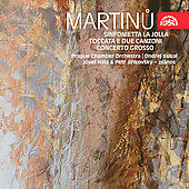 Martinu: La Jolla, Toccata, Concerto Grosso / Josef H&aacute;la, Petr Jir&iacute;kovsky, Ondrej Kukal, et al