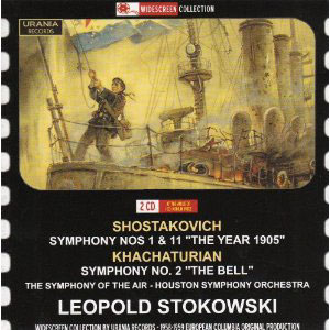 Shostakovich: Symphony Nos. 1 & 11; Khachaturian: Symphony No. 2 / Stokowski