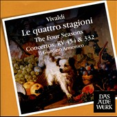 Vivaldi: The Four Seasons; Concertos, RV 454 & 332 / Enrico Onofri; Paolo Grazzi