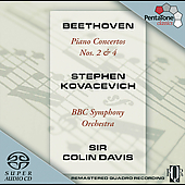 Beethoven: Piano Concertos no 2 & 4 / Kovacevich, Davis