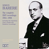 Simon Barere - Complete HMV Recordings 1934-36