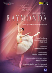 Elegance, The Art of Marius Petipa - Glazunov: Raymonda, ballet / Olesia Novikova, Friedemann Vogel, Mick Zeni. La Scala Ballet, Michail Jurowski (produced for TV, 2011) [DVD]