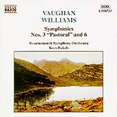 Vaughan-Williams: Symphonies 3 & 6 / Kees Bakels