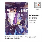 Brahms: Serenades no 1 & 2 / Alun Francis, Verdi SO
