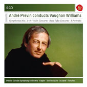 Ralph Vaughan Williams (1872-1958): Symphonies Nos. 1-9; Violin Concerto; Tuba Concerto; 3 Portraits / London SO, André Previn