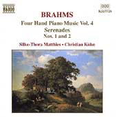 Brahms: Four Hand Piano Music Vol 4 / Matthies, Köhn