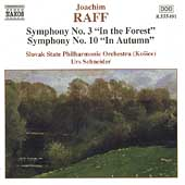 Raff: Symphonies no 3 and 10 / Schneider, Slovak State PO