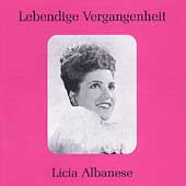 Lebendige Vergangenheit - Licia Albanese