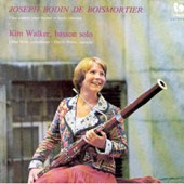 Boismoitier: Bassoon Sonatas / Kim Walker