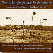 David Dunn: Music, Language and Environment