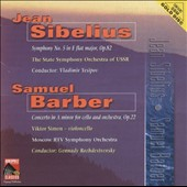 Sibelius: Symphony No. 5; Samuel Barber: Concerto in A minor for Cello and Orchestra