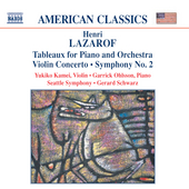 Lazarof: Tableaux, Violin Concerto, etc / Ohlsson, Schwarz