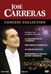Jose Carreras Concert Collection - Four Complete Concerts [4 DVD]