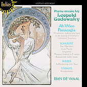 Godowsky: Piano Music / Rian de Waal