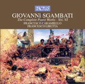Sgambati: The Complete Piano Works Vol 6 / Caramiello, Libetta