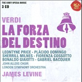 Verdi: La Forza del Destino / Price, Domingo, Milnes, Cossotto, Giaiotti, Bacquier. James Levine, London SO (rec. 1977)