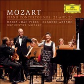 Mozart: Piano Concertos Nos. 27 and 20 / Maria Joao Pires, piano; Claudio Abbado