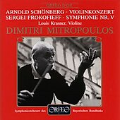 Sch&#246;nberg: Violin Concerto;  Prokofiev: Symphony no 5