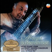 Vilayat Khan: A Night to Remember: Live at the Royal Festival Hall, 2002 [Box] *
