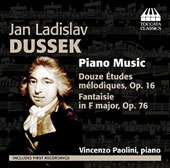 Jan Ladislav Dussek: Piano Music - 12 Melodic Etudes, Op. 12; Fantasy in F Major, Op. 76 / Vincenzo Paolini, piano