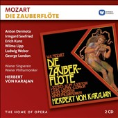 Mozart: The Magic Flute / Anton Dermota, Irmgard Seefried, Erich Kunz, Wilma Lipp, Ludwig Weber, George London. Vienna PO & Singverein, Karajan