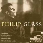 Glass: Two Pages, Contrary Motion, etc / Philip Glass, et al