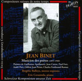 Music and Poems / Binet Balleys, mezzo soprano; Cerantola, piano