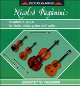Paganini: Quartets Nos. 4-6 for Violin, Viola, Guitar & Cello