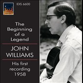 The Beginning Of A Legend: John Williams - His First Recording, 1958