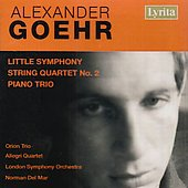 Goehr - Little Symphony, String Quartet no 2, Piano Trio / Del Mar, et al
