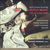 Dutch Music for Viola and Piano