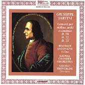 Tartini: Violin Concertos / Antonioni, Frontalini, Kaunas