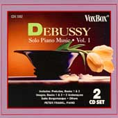 Debussy: Solo Piano Music Vol 1 / Peter Frankl
