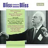 Bliss conducts Bliss: Mêlee Fantasque, Rout, Adam Zero, etc