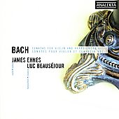Bach: Violin Sonatas Vol 2 / Ehnes, Loiselle, Beaus&#233;jour